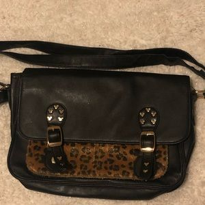 Black and Leopard Disney Purse
